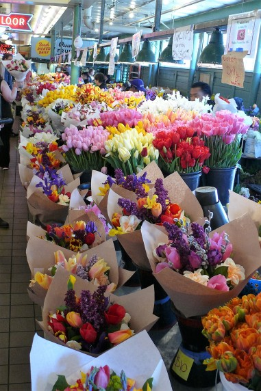 One of the many flower stalls at PP Market