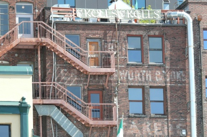 Lots of old brick buildings in Seattle