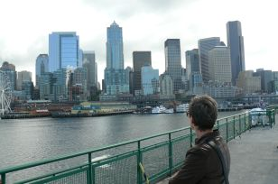 Ferry leaving Seattle