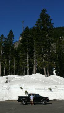 Mt Rainier snow