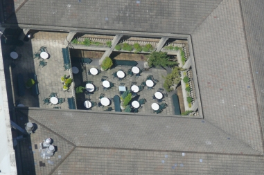 A courtyard birdseye view