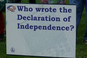 Quiz questions dotted around the Park