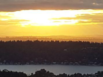 Sunset from Li's house - stunning
