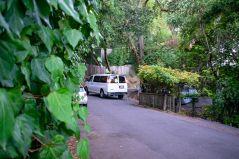 Hmmm - big van, narrow road